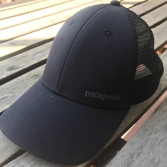 73d37cde RARE Patagonia all black small text logo hat. M_5b67608cf303692bfd39019b